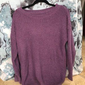 Deep Purple Soft Knitted Sweater